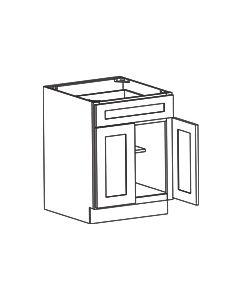 2 Door 1 Drawer Base Cabinet-Shaker Espresso