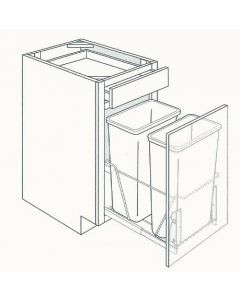 Base Trashcan Pullout Cabinets-Shaker Espresso