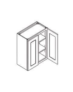 30 inch HEIGHT WALL CABINETS-2 Door-Charleston Saddle