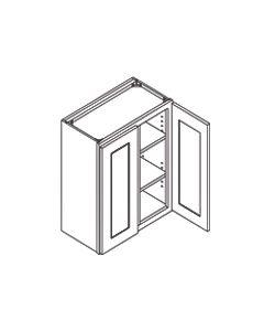 36 inch HEIGHT WALL CABINETS-2 Door-Charleston Saddle